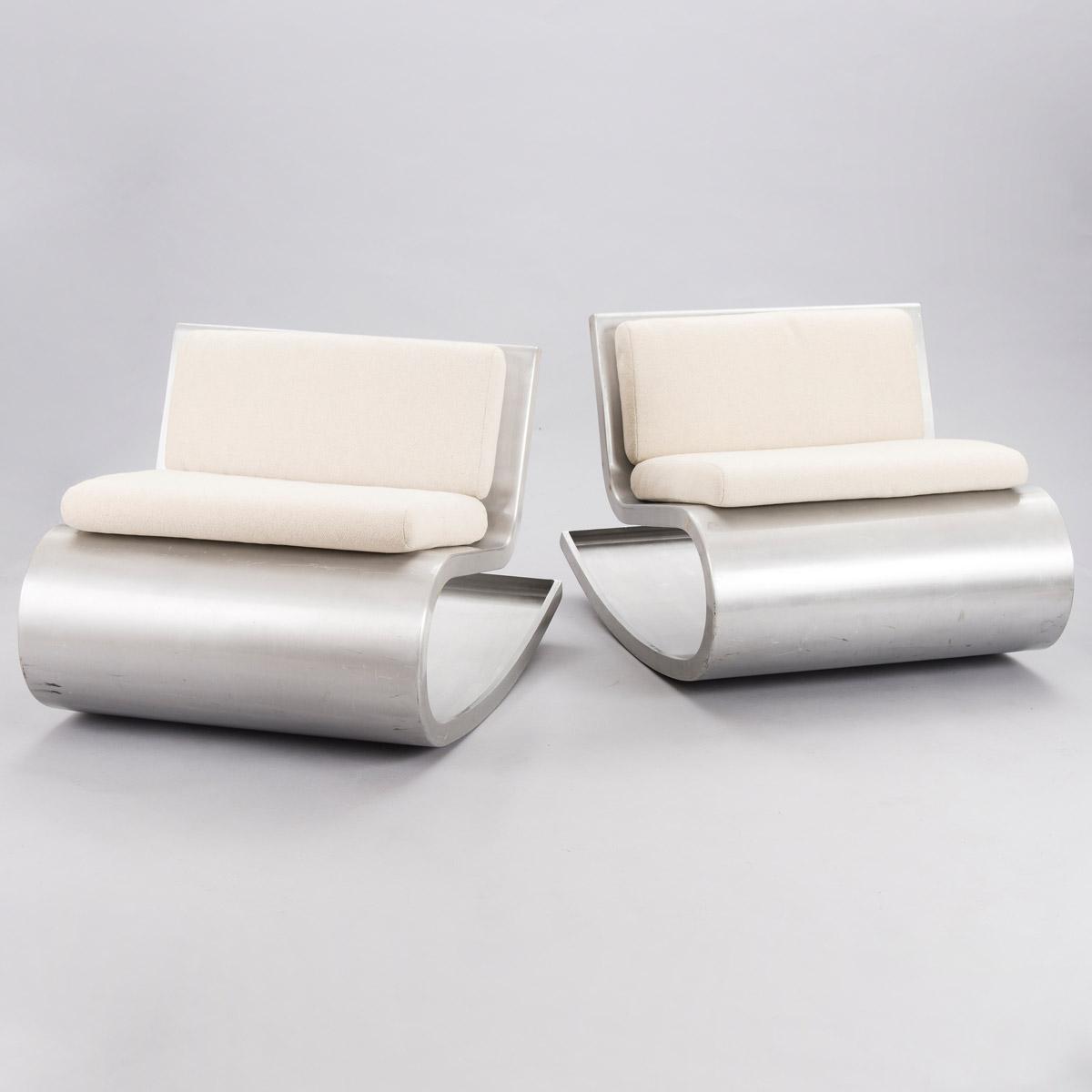 Aluminum chairs with cushions by Petra Majantie ja Siri Viherheimo.