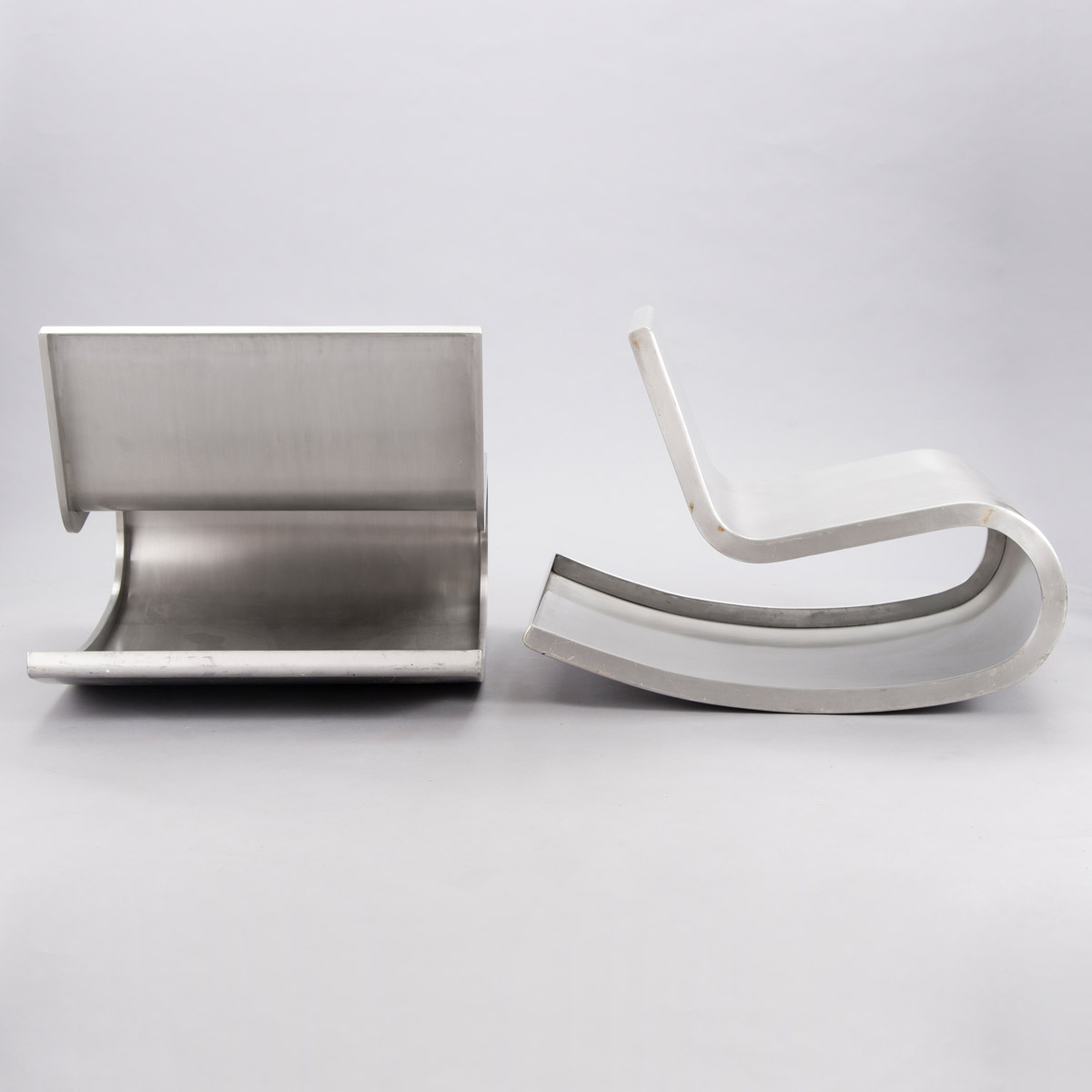 Aluminum chair by Petra Majantie ja Siri Viherheimo.